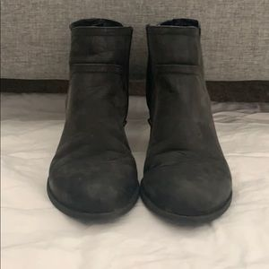6.5M half boots with side zipper